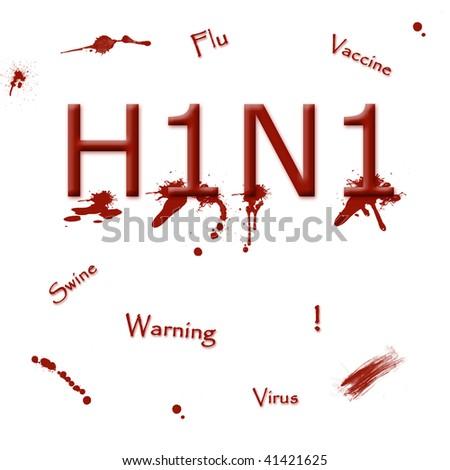 Swine flu illustration - stock photo