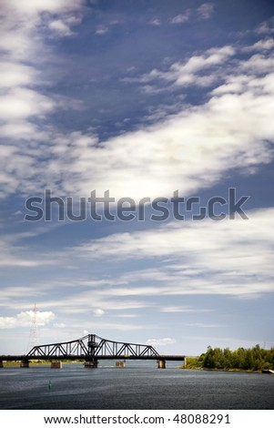 Swing Bridge in Ontario Canada - stock photo