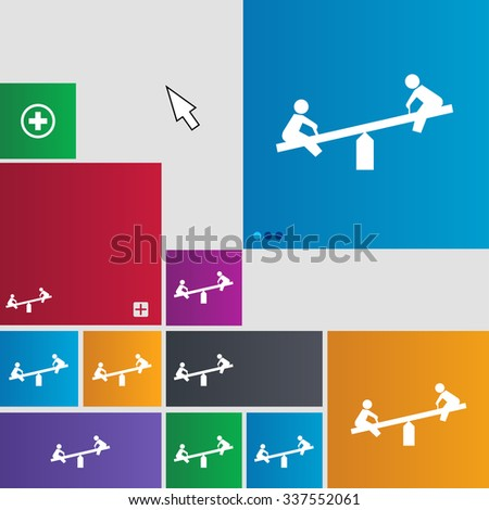 swing icon sign. buttons. Modern interface website buttons with cursor pointer. illustration - stock photo