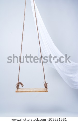 swing on a rope - stock photo