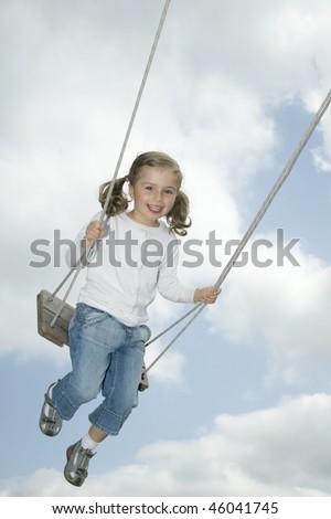 Swing ride - stock photo