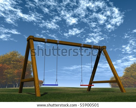 swing set - stock photo