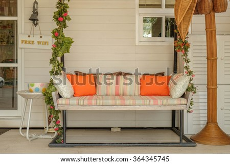 Swing sofa in living room
