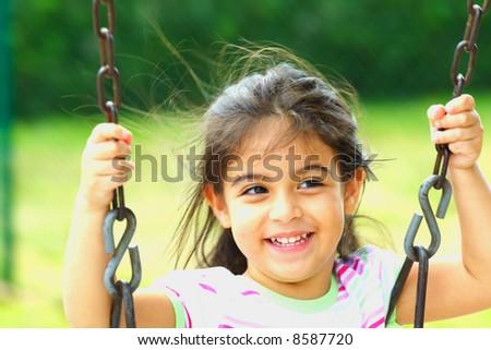 Swinging Around - stock photo