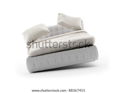 swinging Bed on white with soft shadow - stock photo