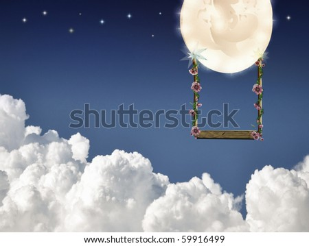 swinging on the moon
