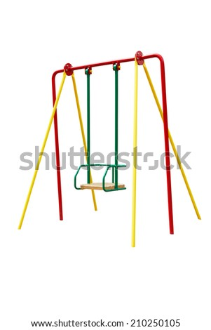 swings for children isolated on a white background  - stock photo