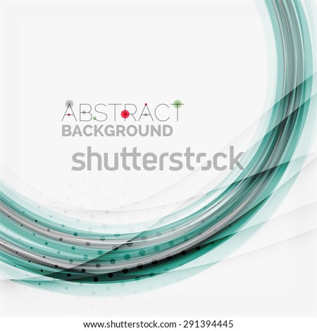 Swirl line design. Modern layout for your message, slogan or brand name - stock photo