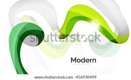 Swirl shape colorful line. Futuristic abstract background - color curve stripes and lines in motion concept and with light and shadow effects. Presentation banner and business card message design - stock photo
