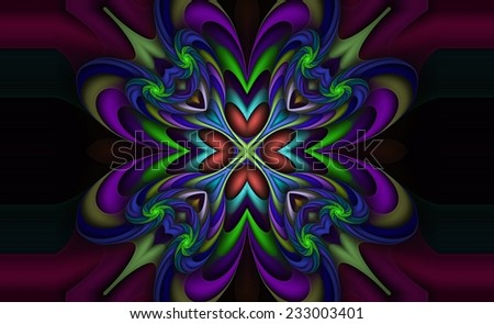 Swirled Creative design element for art projects, pamphlets, brochures or cards - stock photo