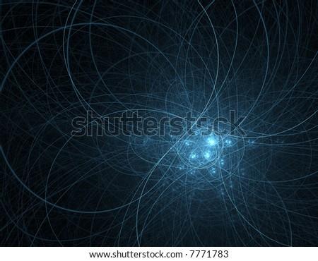 Swirling blue energy - stock photo