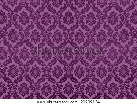 Swirly floral retro wallpaper, similar available in my portfolio - stock photo