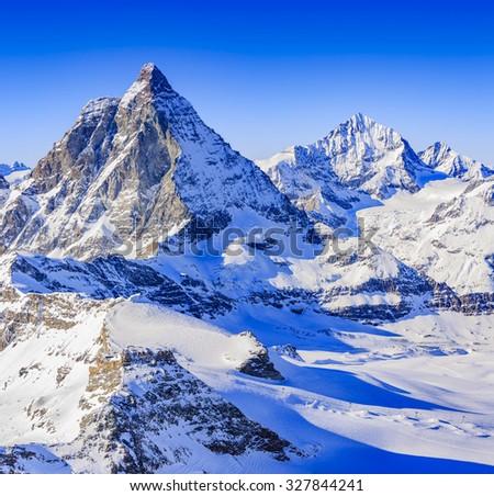 Swiss Alps - Matterhorn, Switzerland - stock photo