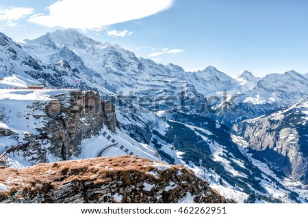 "Swiss alps. The resort ""Jungfrau"""
