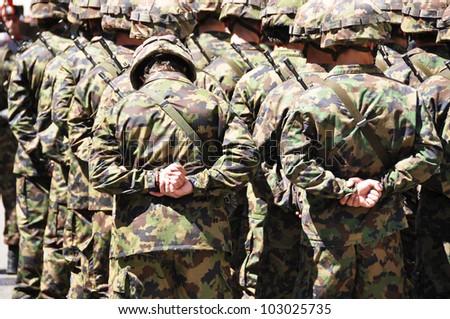 Swiss army - stock photo