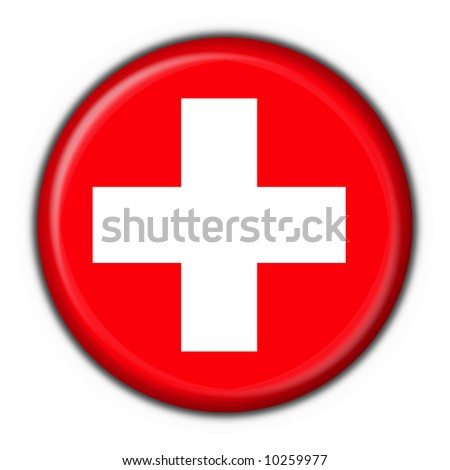 swiss button flag round shape