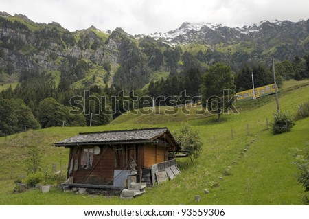 Swiss chalet in village of Wengen