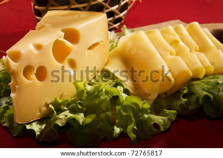 Swiss cheese - stock photo
