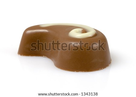 Swiss chocolate isolated over a white background