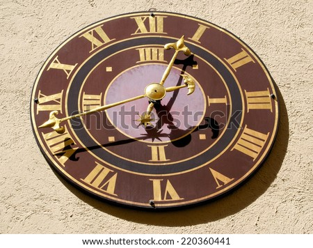 swiss clock - stock photo