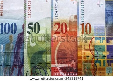 Swiss Currency - stock photo
