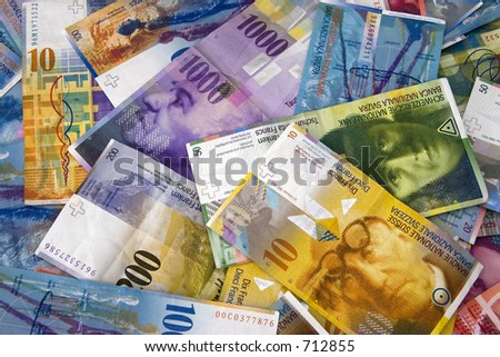 Swiss Currency Bank Notes (Swiss Francs). - stock photo