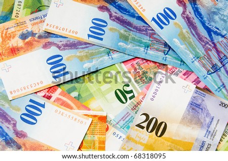 Swiss currency francs - stock photo