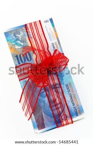Swiss franc - stock photo