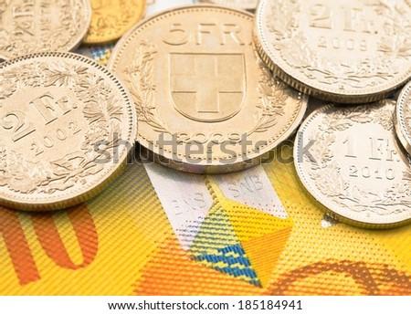 Swiss money. - stock photo