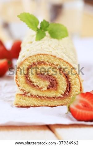 Swiss roll - stock photo