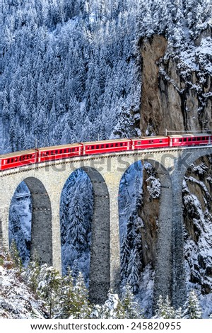 Swiss train - stock photo