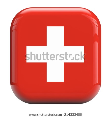 Swiss white cross or red background flag.
