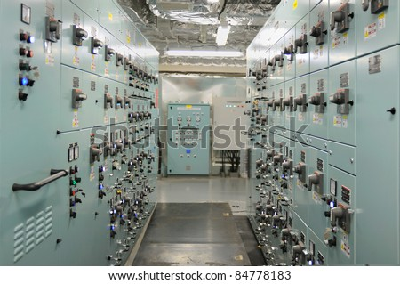 switch board - stock photo