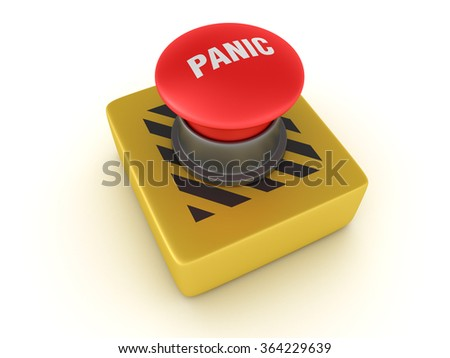 Switch Buttons Series - PANIC - High Quality 3D Render  - stock photo