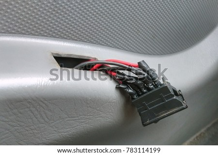 Switch  car power window improvement repair with seen cables