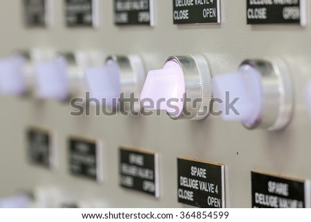 Switch deluge valve control for open fire extinguisher system in Oil and gas process - stock photo