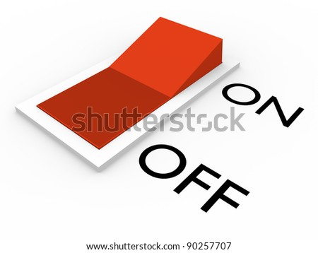 Switch in off position. Abstract 3d illustration. Concept of energy - stock photo