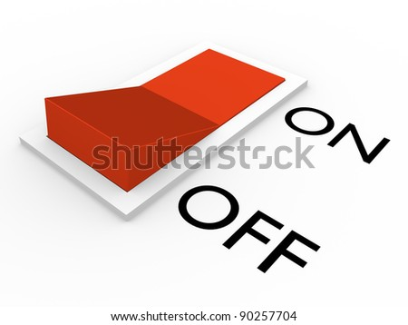 Switch in on position. Abstract 3d illustration. Concept of energy - stock photo