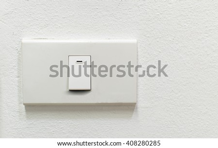 Switch of light turn on - stock photo