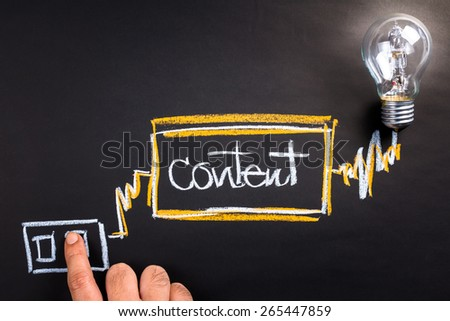 Switch on business to success with content - stock photo