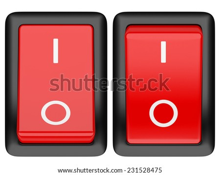Switch on. 3d illustration isolated on a white background
