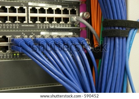 Switch Outputs - stock photo