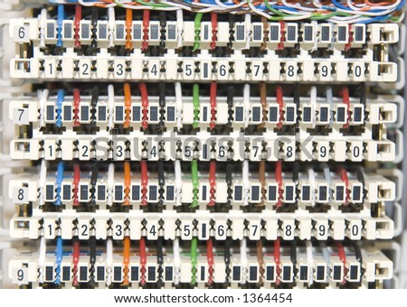 Switchboard Panel - stock photo