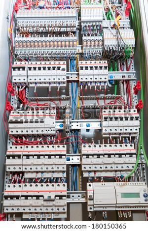 Switchgear cabinet - stock photo
