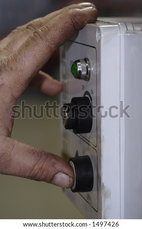 Switching hand - stock photo