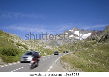 Switzerland. Canton Bern. Susten Pass. - stock photo