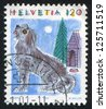 SWITZERLAND - CIRCA 1993: A stamp printed by Switzerland, shows Dog, Animals, circa 1993 - stock photo