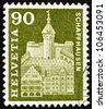 SWITZERLAND - CIRCA 1960: a stamp printed in the Switzerland shows Munot Tower, Schaffhausen, Switzerland, circa 1960 - stock photo