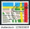 SWITZERLAND - CIRCA 1997: stamp printed by Switzerland, shows Swiss municipalities union, circa 1997 - stock photo