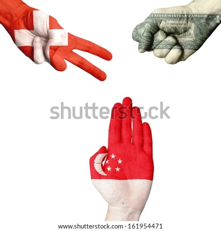 Switzerland Dollar Singapore rock-paper-scissors